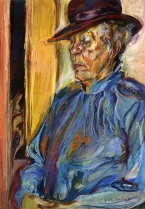 Artist's Mother in Blue